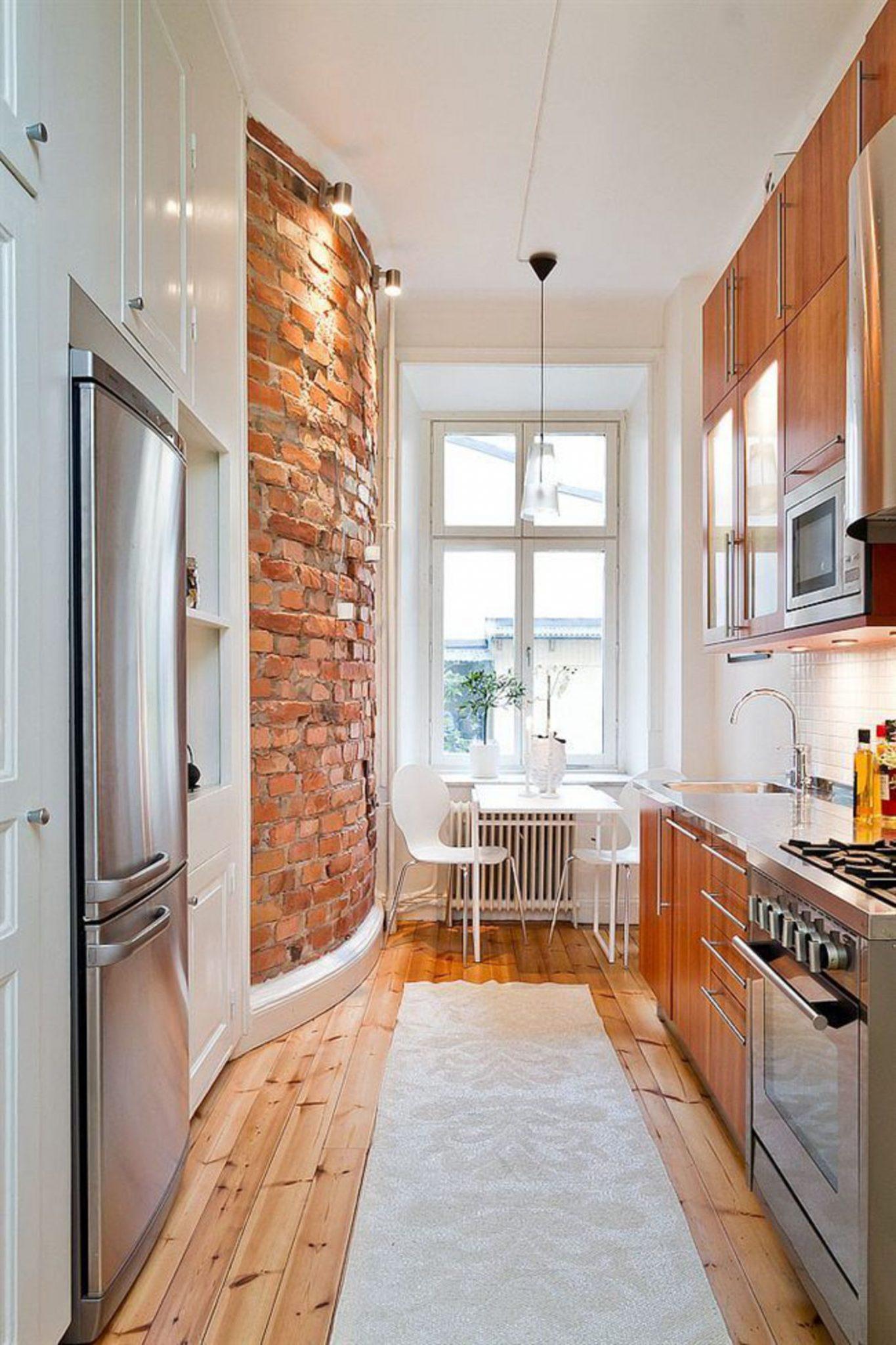 34 стильных и функциональных интерьера для узкой кухни pro h.